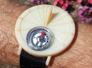 27.75N Sundial Wristwatch For Working Compass in White Acrylic