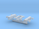 FEA-F Spine Wagon Buffer Beam Set for N Gauge, 1:1 in Frosted Ultra Detail
