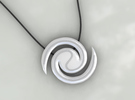 Galaxy Pendant in White Strong & Flexible Polished
