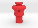 Cylinder Pull Tool Long in Red Strong & Flexible Polished