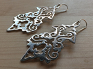 BlakOpal Victorian Flourish Earring in Rhodium Plated