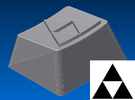 Legend of Zelda - Triforce Keycap (R1, 1.25x) in White Strong & Flexible