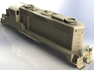 EMD GP20 Locomotive in H0 in White Strong & Flexible