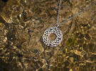 Celtic Knot Pendant in Raw Silver