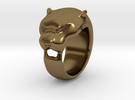 Panther ring size 9 in Polished Bronze