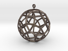 small ball rhombicosidodecahedron in Stainless Steel