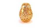 Matryoshka / Nesting Doll Pendant in 18k Gold Plated
