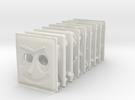 miniFloppyBot Faces Kit in White Strong & Flexible