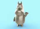 MoominTroll Waveing 50mm in White Strong & Flexible