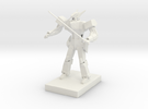 Anime style mecha in White Strong & Flexible