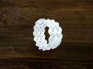 Turk's Head Knot Ring 5 Part X 13 Bight - Size 7.2 in White Strong & Flexible