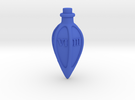 D6 dice potion bottle in Blue Strong & Flexible Polished