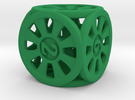 D6 dice rings in Green Strong & Flexible Polished