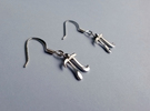 Pi Math Symbol Earrings in Polished Silver