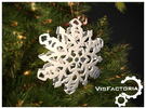 Crystal Christmas Snowflake in White Strong & Flexible