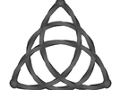 Triquetra Celtic Knot - Small in White Strong & Flexible