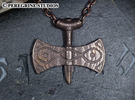 Pendant - Amulet of Talos in Polished Bronze Steel
