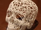 Skull Filagree - v1 - 27cm in White Strong & Flexible