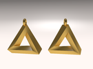 Penrose Triangle - Earrings (17mm | 2x mirrored) in Stainless Steel