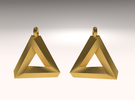 Penrose Triangle - Earrings (17mm | 1x mirrored) in Stainless Steel