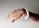 Osseous Bracelet Dense in White Strong & Flexible Polished