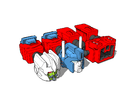 Minibot - Magnum Separator Set in White Strong & Flexible