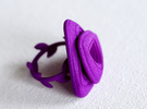 Rose Ring in Purple Strong & Flexible Polished