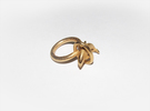 Dolplin Ring (US Size11) in Polished Gold Steel