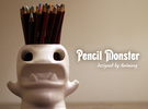 Monster Pencilpot Original High Quality in White Strong & Flexible