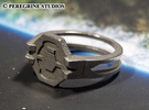 Ring - Seal of the Didact (Size 13) in Stainless Steel