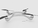 Quadcopter Frame V.1 in White Strong & Flexible