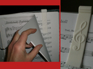 Sheet Music Bookmark with Treble Clef in White Strong & Flexible Polished