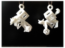 Fox In Polyhedrons Set in White Strong & Flexible Polished
