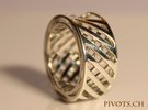 Double Wire Ring in Premium Silver