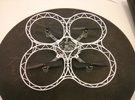 Crazyflie quadcopter frame in White Strong & Flexible