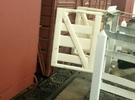 Victorian Railways Narrow Gauge Cattle Race Gate in White Strong & Flexible