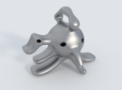 Dragoelephant Figurine in Metallic Plastic