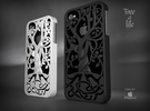 """Iphone 4, 4S case """"Tree of life"""" in White Strong & Flexible"""