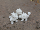 Miniature Dinos in White Strong & Flexible