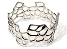 Cells Bracelet (67mm) in Polished Silver