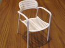 "Knoll Toledo Chair 3.68"" tall in White Strong & Flexible"