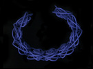 Sprouted Spirals Cuff (Neat) in Blue Strong & Flexible Polished