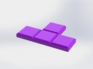 Purple T-Shaped Coaster in Purple Strong & Flexible Polished