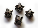 Fudge Pinwheel Die6 4d6 Set in Stainless Steel