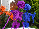 Mr Bones -- Articulated Skeleton (Download Free) in White Strong & Flexible Polished