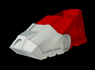 Iron Man Boot (Heel with sole) Part 1 of 4 in White Strong & Flexible