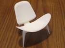 "Steelcase Shell Chair 2.8"" tall in White Strong & Flexible"
