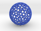 Bucky Sphere in Blue Strong & Flexible Polished