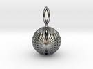 Wire Globe Pendant  in Polished Silver