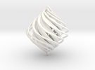 Twist Holiday Ornament in White Strong & Flexible Polished